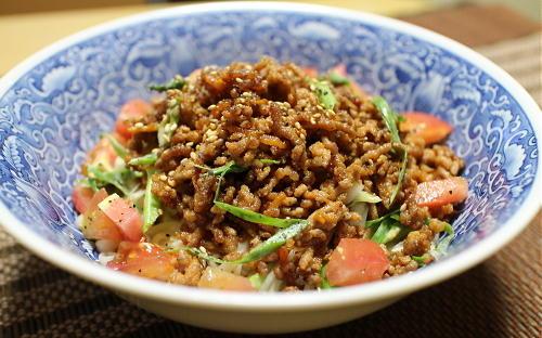 今日のキムチ料理レシピ:ピリ辛ごま肉みそうどん