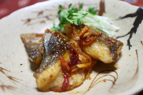 今日のキムチ料理レシピ:タラのピリ辛焼き