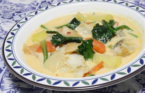 今日のキムチ料理レシピ: タラとカクテキのスープ
