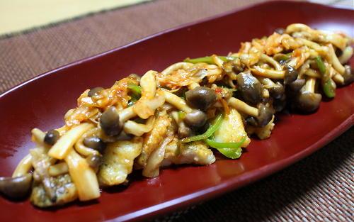 今日のキムチレシピ:タラのキノコキムチソース