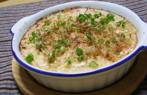 今日のキムチ料理レシピ:たらこキムチの長芋焼き