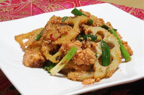 今日のキムチ料理レシピ:レンコンのピリ辛たらこ炒め