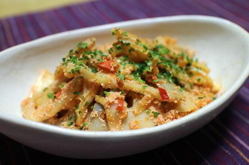 今日のキムチレシピ:レンコンとキムチのたらこ炒め