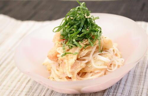 今日のキムチ料理レシピ:タラコキムチそうめん