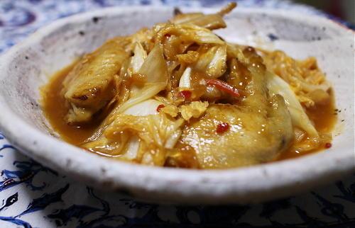 鶏手羽肉と白菜のピリ辛煮レシピ