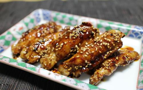 今日のキムチ料理レシピ:手羽中の甘ピリ辛煮