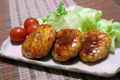 今日のキムチ料理レシピ:照り焼きキムチつくね