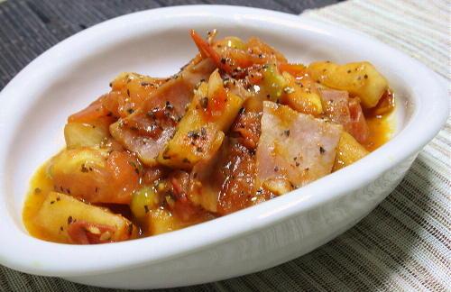 トマトと大根キムチのバジル炒めレシピ