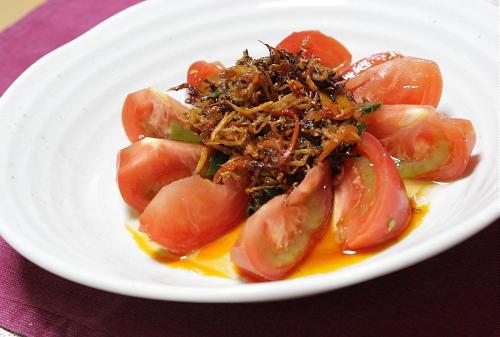 トマトのピリ辛しらすドレッシングレシピ