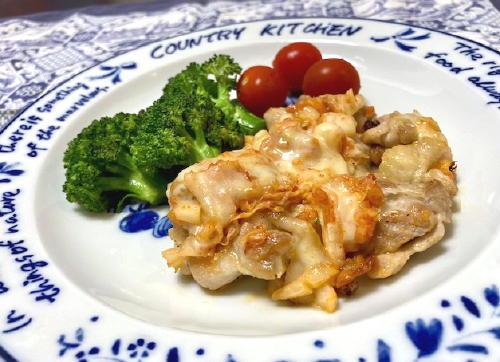 今日のキムチ料理レシピ:鶏肉のキムチチーズ焼き