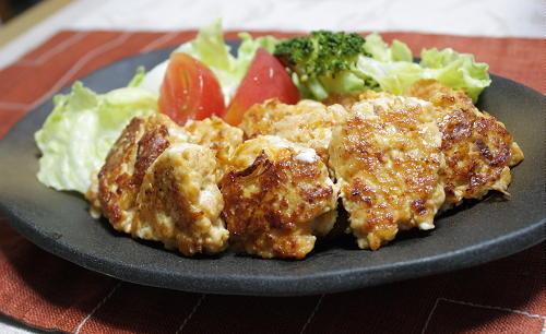 今日のキムチ料理レシピ:クリームチーズとキムチの鶏団子