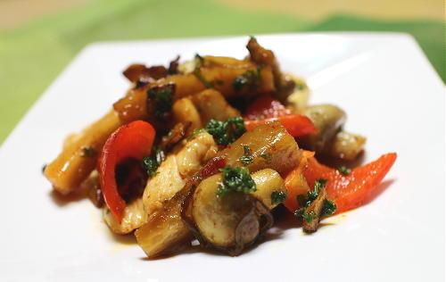 鶏肉と大根キムチのアヒージョ風レシピ