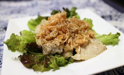 今日のキムチ料理レシピ:鶏むね肉のキムチラッキョウソース