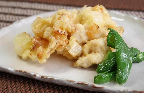 今日のキムチ料理レシピ:鶏肉とキムチのかき揚げ