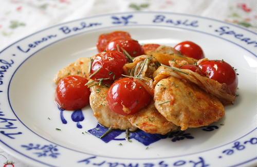 今日のキムチ料理レシピ:鶏肉とトマトのキムチ炒め
