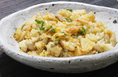 今日のキムチ料理レシピ:鶏ねぎキムチの混ぜごはん