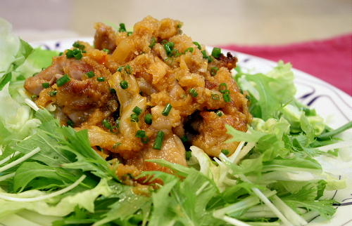 今日のキムチ料理レシピ: 豚肉とキムチのおろしダレ