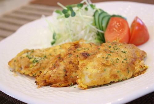 今日のキムチ料理レシピ:鶏肉とキムチのピカタ