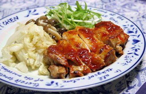今日のキムチ料理レシピ:鶏肉のピリ辛ケチャップ焼き