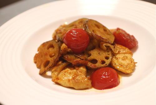 今日のキムチレシピ:鶏肉とレンコンのキムチ炒め