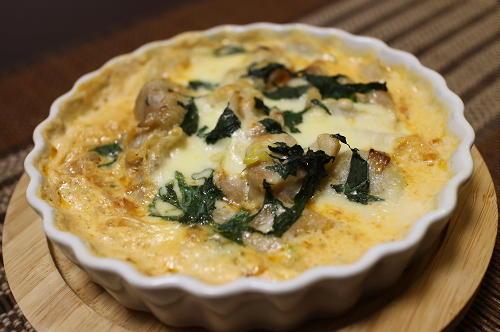 今日のキムチ料理レシピ:鶏肉と里芋のキムチグラタン