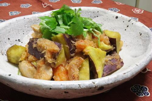 鶏肉と大根キムチのおろし和えレシピ