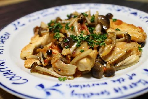 今日のキムチ料理レシピ:鶏肉とキムチのシンプル炒め