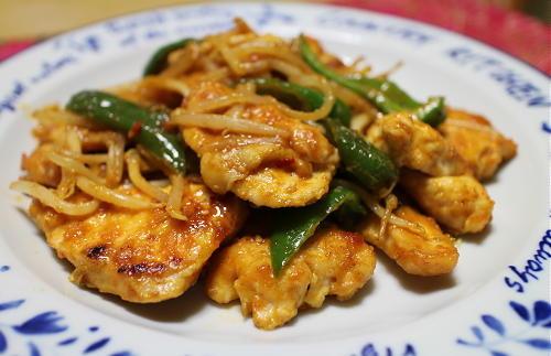 鶏むね肉ともやしのピリ辛焼きレシピ
