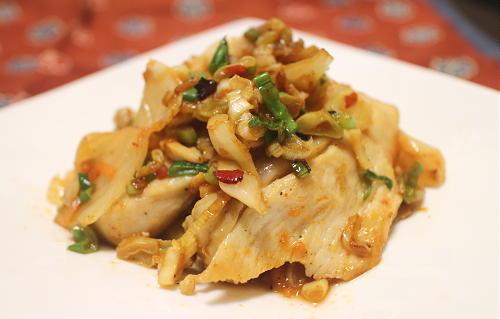 今日のキムチ料理レシピ:鶏むね肉のねぎ塩キムチ焼き
