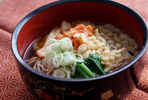 今日のキムチ料理レシピ:キムチ年越しそば