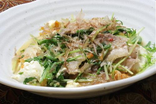 今日のキムチ料理レシピ:豆腐と豚肉のキムチ炒め