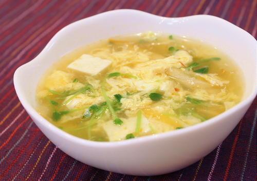 今日のキムチ料理レシピ:豆腐とキムチのあったかスープ