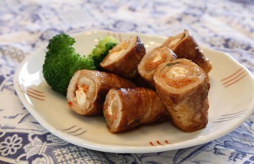 今日のキムチ料理レシピ:豚肉の豆腐とキムチ巻き