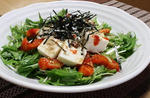 水菜と大根キムチの豆腐サラダレシピ