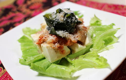 今日のキムチレシピ:豆腐キムチサラダ