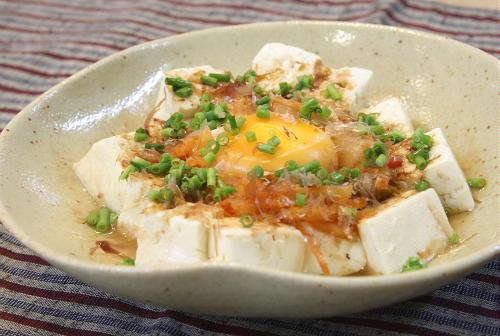今日のキムチ料理レシピ:豆腐とキムチのレンジ蒸し