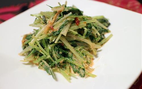 今日のキムチ料理レシピ:水菜のピリ辛ごまマヨ和え