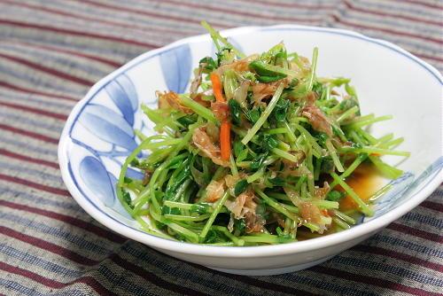 今日のキムチ料理レシピ:豆苗とキムチのおかか和え