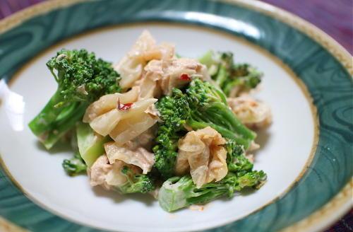 今日のキムチレシピ:ブロッコリーのツナキムチ和え