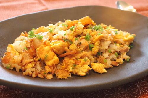 今日のキムチ料理レシピ:ツナキムチチャーハン