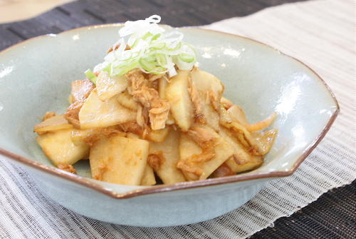 今日のキムチ料理レシピ:大根とツナのキムチ炒め