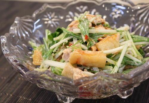 水菜とツナの大根キムチサラダレシピ