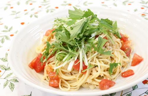 今日のキムチ料理レシピ:シーチキンキムチパスタ