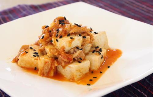 豆腐のピリ辛ツナ炒めレシピ