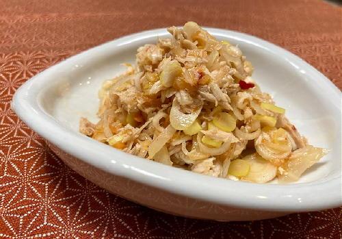 今日のキムチ料理レシピ:ツナのキムチ和え