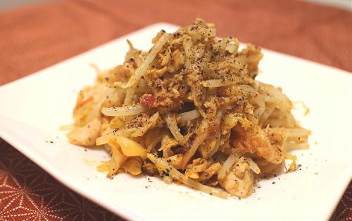 今日のキムチ料理レシピ:もやしとツナのキムチマヨ炒め