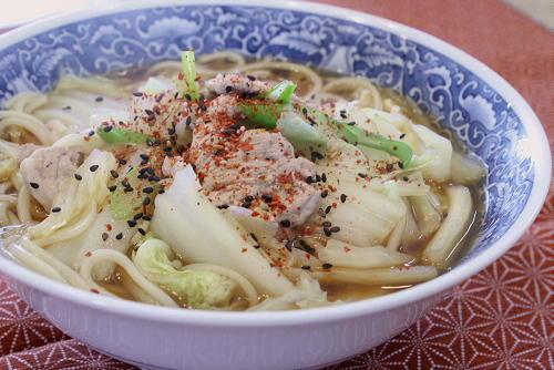 今日のキムチ料理レシピ:うどんに食べる唐辛子