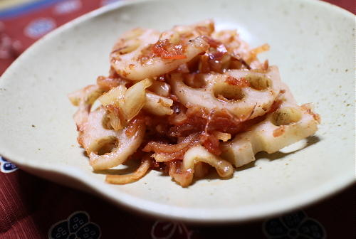 今日のキムチレシピ:梅キムチレンコン