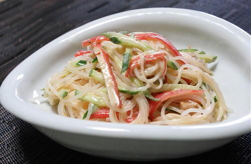 今日のキムチ料理レシピ:梅キムチ春雨サラダ