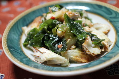 今日のキムチレシピ:ちくわとわかめのキムチマヨ和え